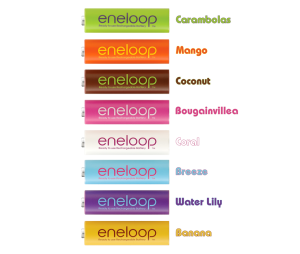 Eneloop Tropical HR-3UTGB-8BP bulk names