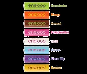 Eneloop Tropical HR-3UTGB-8BP bulk names