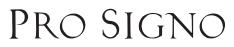PRO SIGNO logo1